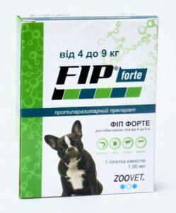 Фіп Форте краплі від бліх і кліщів для собак від 4 до 9 кг
