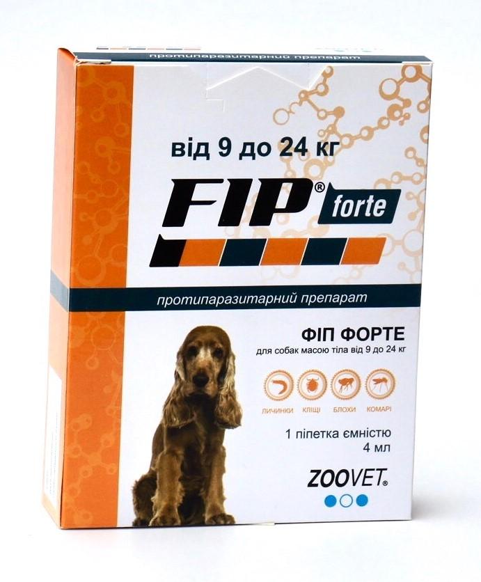 Краплі від бліх та кліщів для собак вагою від 9 до 24 кг